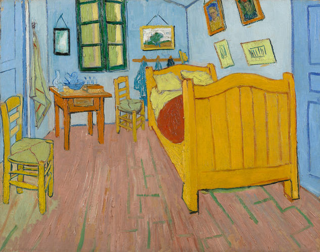 <p>Vincent van Gogh. <em>The Bedroom</em> (1), 1888. Van Gogh Museum, Amsterdam.</p>