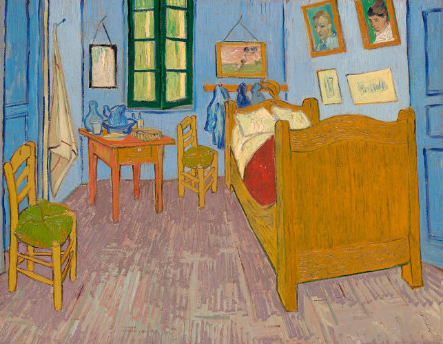 <p>Vincent van Gogh. <em>The Bedroom</em> (3), 1889. Musée d'Orsay, Paris, sold to national museums under the Treaty of Peace with Japan, 1959.</p>