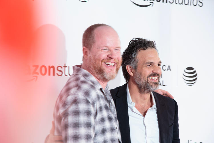 <p>Whedon and Ruffalo</p>