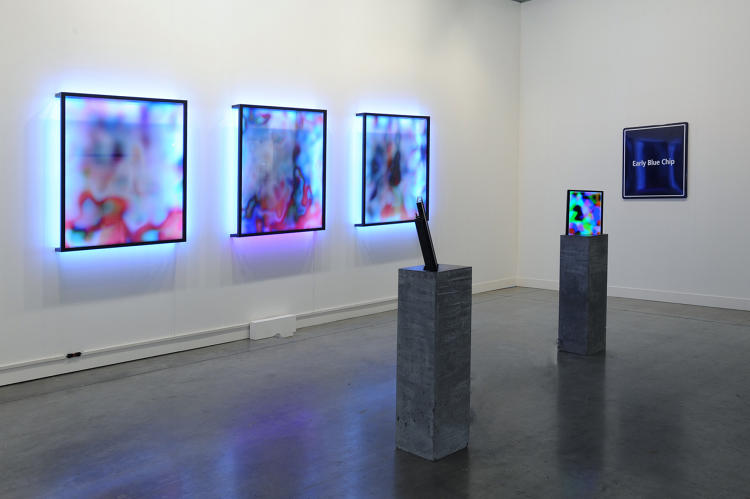 <p>Jonas Lund, miart, Milan (with Steve Turner, Los Angeles), Installation view, April 2016</p>