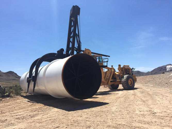 <p>A look inside one of the tubes that Hyperloop One will use for its full dev loop tests later this year.</p>