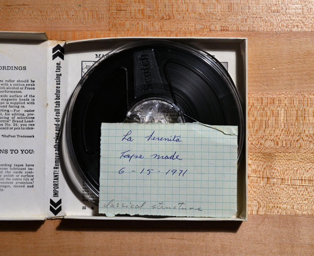 <p>Recording of and notes on La Serenita, 1971</p>