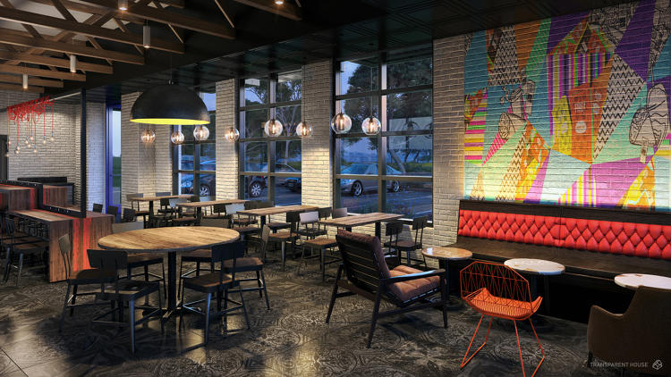 <p>Oh it's busy, don't get us wrong, but it's nicer than your typical Taco Bell, no? (Urban Edge)</p>