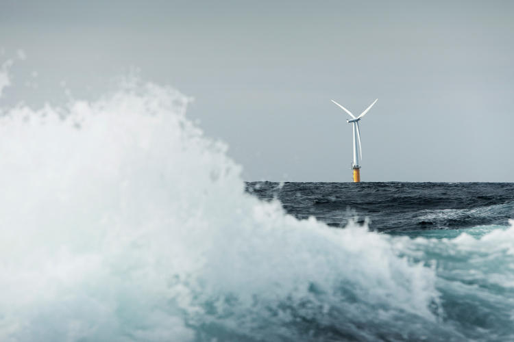 <p>Offshore wind farms are getting more practical, partly because of a new technology that allows them to float.</p>