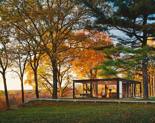 <p>Each year, thousands of visitors make the pilgrimage to Philip Johnson's Glass House, which sits on 47 acres of land in New Canaan, Connecticut.</p>