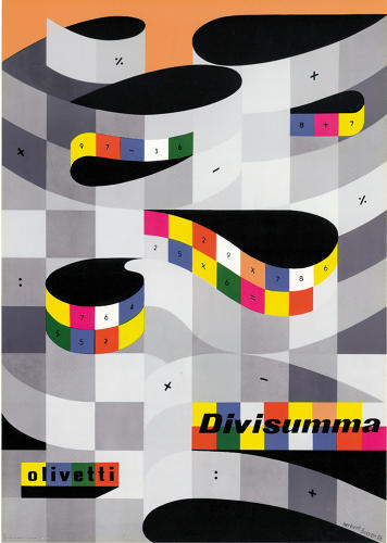 <p>Poster for the Divissuma 24 calculator, designed by Herbert Beyer (1950s).</p>