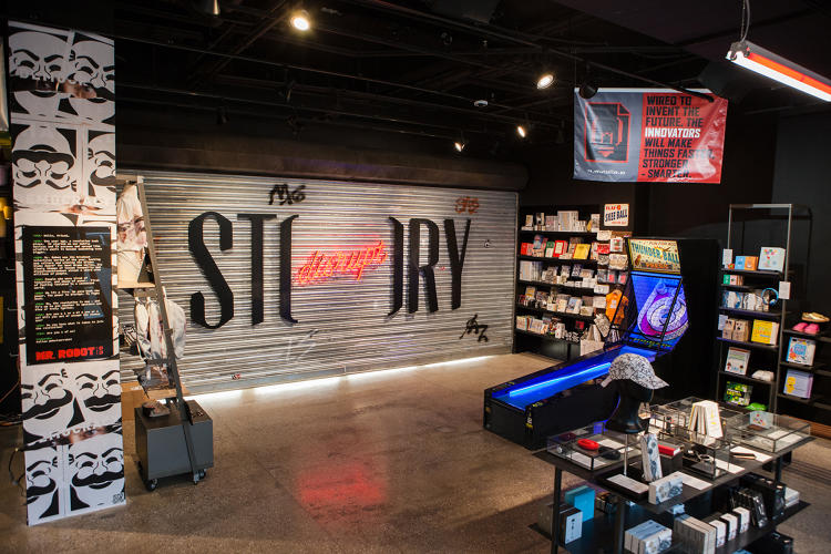 <p>A look inside the installation-slash-story, dubbed Disrupt Story</p>