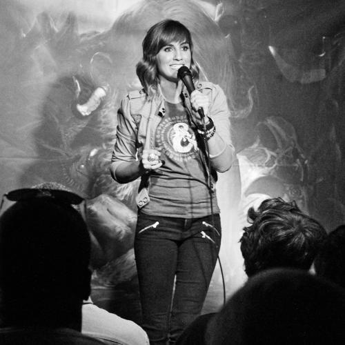 <p>Alison Haislip, of Geek &amp; Sundry's <em><a href=&quot;http://geekandsundry.com/shows/critical-role/&quot; target=&quot;_blank&quot;>Critical Role</a></em>, handles MC duties.</p>