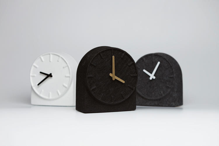 <p>Felt clock for Leff Amsterdam</p>