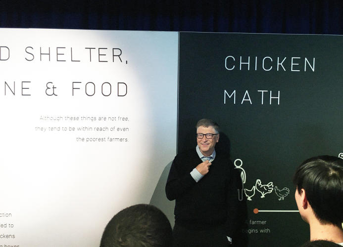 <p>Raising chickens, Gates says, can help families bootstrap their way out of poverty and also hedge against malnutrition.</p>
