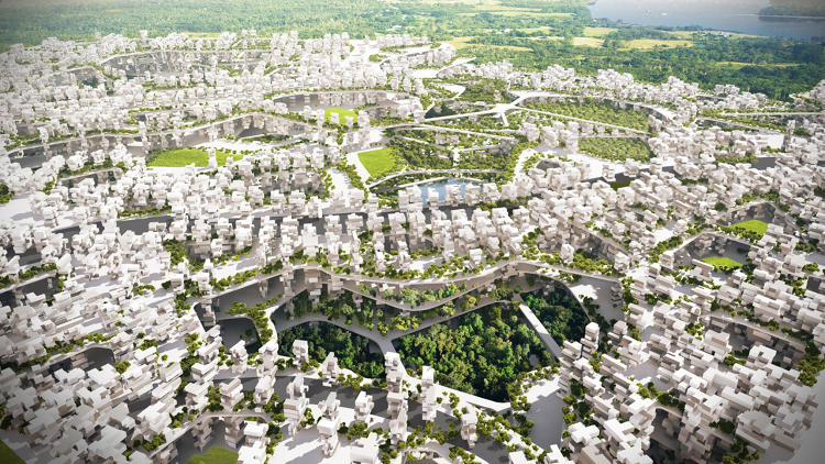 <p>Because Liberland is only three square miles, the design allows the city to grow by stacking the neighborhoods in layers.</p>