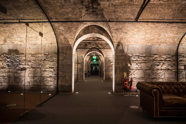 <p>Irish coworking space Dogpatch Labs is located in the vaults below Dublin's CHQ building in a redeveloped whiskey and wine store.</p>