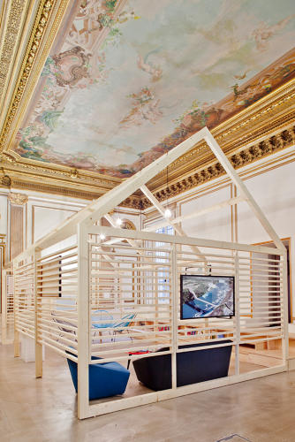 <p>Built inside a huge 19th century palace in Paris, the marketing firm Ekimetrics divided its office into smaller &quot;sub spaces&quot; for privacy.</p>