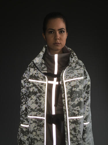 <p>Details--like reflective tape for safety--add functionality to the pieces.</p>