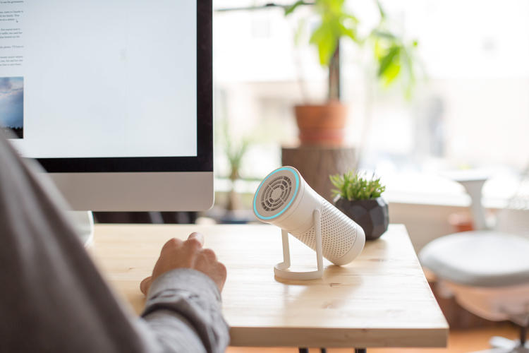 <p>Wynd is a portable, water bottle-sized air purifier.</p>