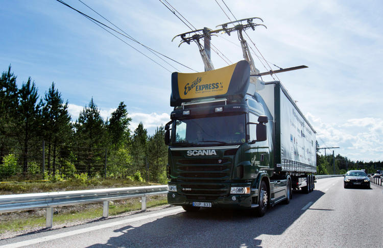 <p>It is part of a two-year trial from Siemens and Scania to test the practicality of overhead power on highways used for trucks.</p>