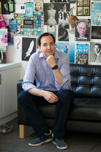 <p>Scrollmotion founder and collector extraordinaire Josh Koppel</p>