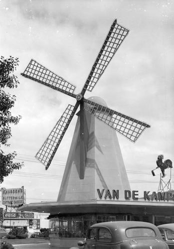 <p>Before the building was a Denny's it was an outpost of Van de Kamp bakery, a chain of Dutch-inspired restaurants.</p>