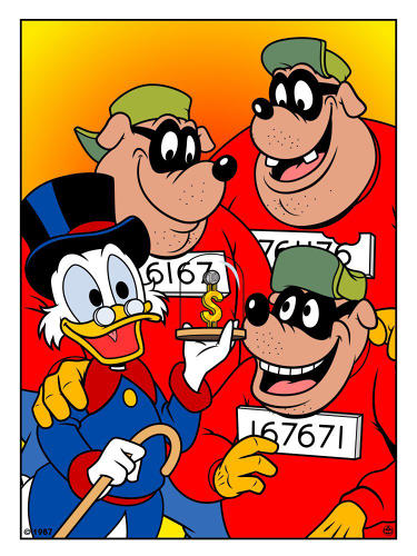 <p><em>DuckTales</em>' Scrooge McDuck and the Beagle Boys</p>