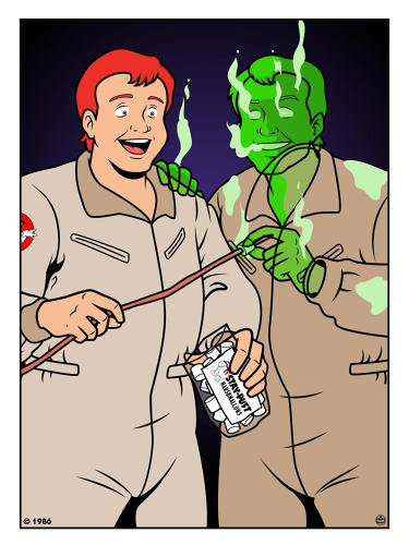 <p><em>The Real Ghostbusters'</em> Ray Stantz and Citizen Ghost Ray Stantz</p>
