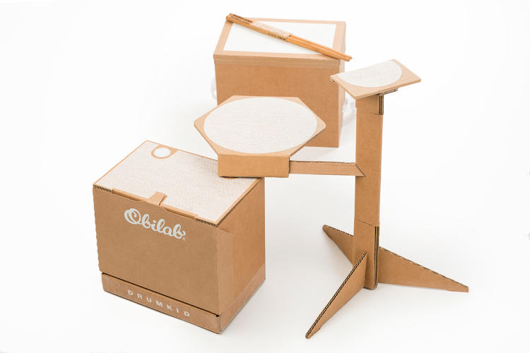 <p>After watching street drummers improvise on cardboard boxes, designer and musician Patrick Obadia had an idea.</p>