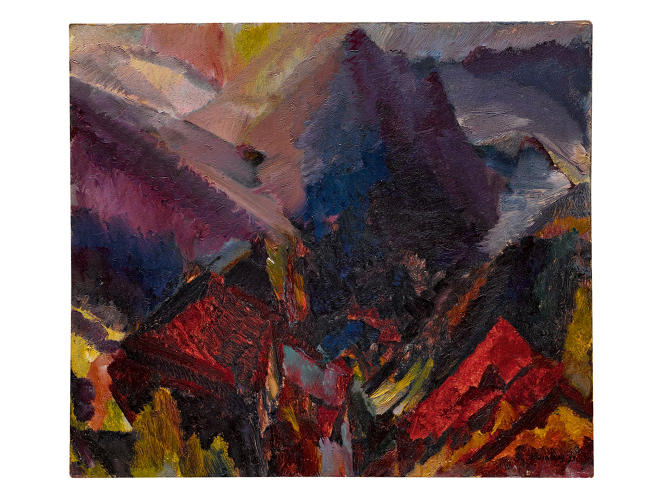 <p>Bomberg, Sunrise in the mountains, picos de asturias (1935)</p>