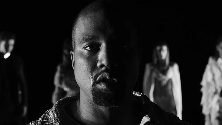 <p>Kanye in the &quot;Wolves&quot; video</p>