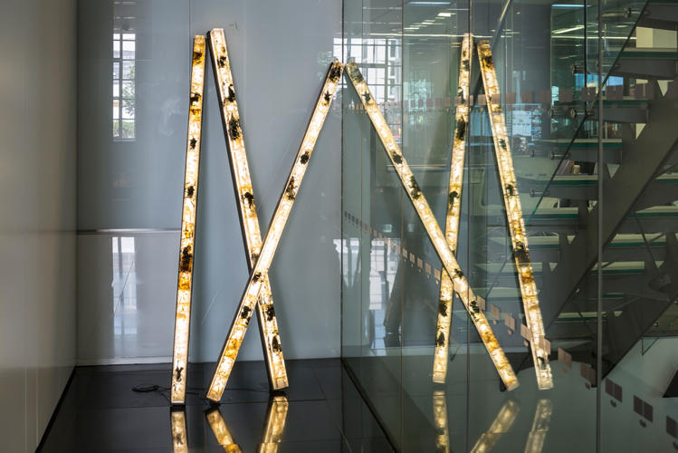 <p>Price also created a series of lighting rods using the same process.</p>