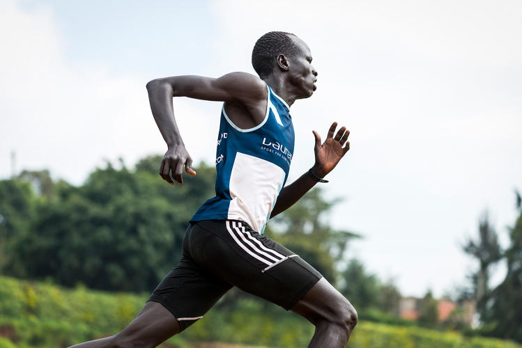 <p>South Sudanese refugee Yiech Pur Biel will compete in the 800-meter run.</p>