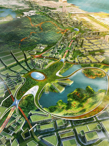 <p>The design also includes channels that can collect water, helping solve the city's water management problem.</p>