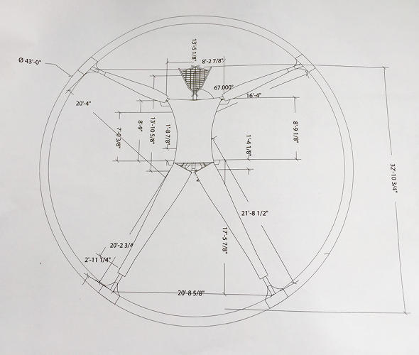 <p>A blueprint showing the 2016 Man design.</p>