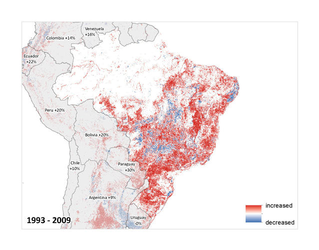 <p>Areas that have now been settled include the southern Amazon and the Brazilian Atlantic forests.</p>