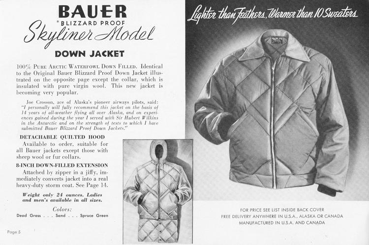 <p>A catalog from 1945 featuring the Skyliner jacket.</p>