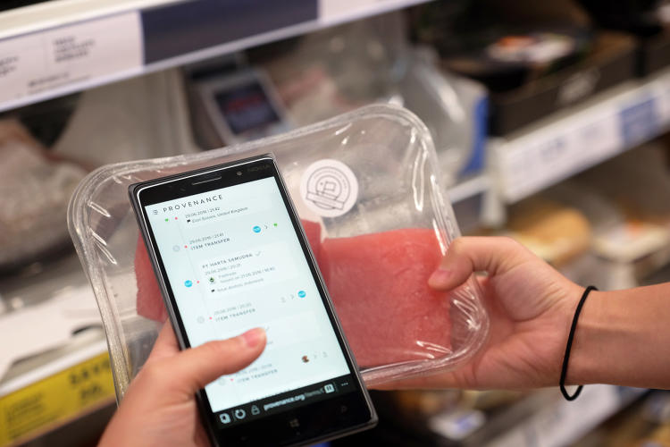 <p>Every time a batch of fish was sold—to traders, and processors, brands, and supermarkets—the blockchain ID was sold with it.</p>