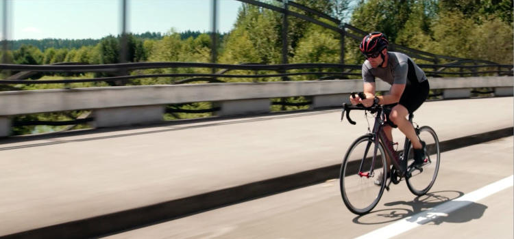 <p>The helmet was designed for the growing number of people who ride with earbuds.</p>