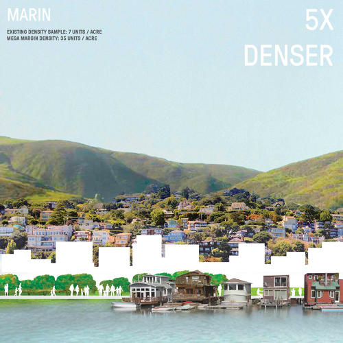 <p>In the design, the designers modeled how much denser the ring of new housing could be.</p>