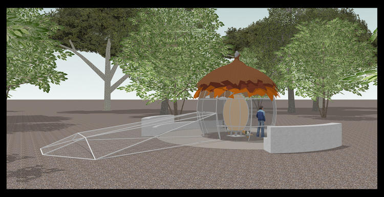 <p>Hot Chick, chicken coop dress tent proposal for Montalvo Arts Center</p>