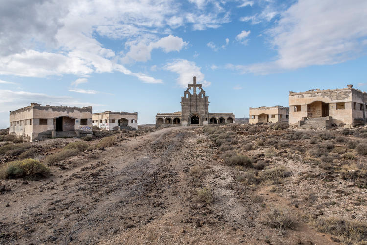 <p>The church of the leprosy station <a href=&quot;http://www.totallylost.eu/space/abona-sanatorium/&quot; target=&quot;_blank&quot;>Sanatorio de Abona</a>, located in Tenerife, the largest of the Canary Islands. The site was developed to handle a leprosy outbreak in the 1940s, but was never finished. In the 1960s, it was used for the Spanish dictator Franco's training camps. Photo by Joakim Berndes</p>