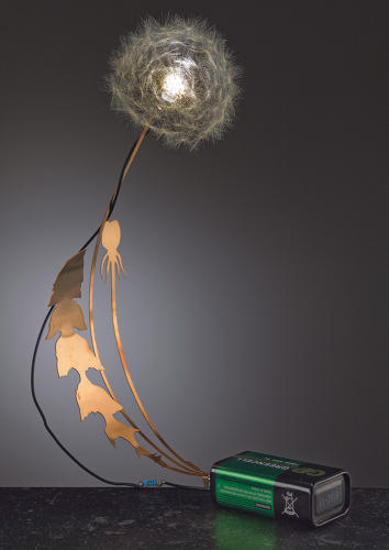 <p>Studio Drift's Dandelight is made from a real dandelion with LED bulbs individually glued to each seed.</p>
