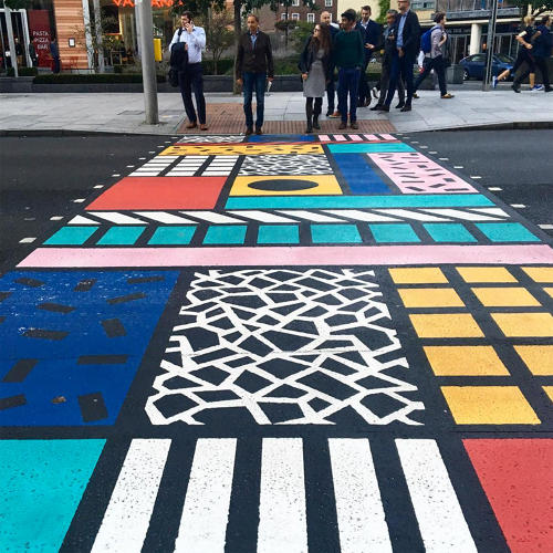 <p>For the Better Bankside project, designer <a href=&quot;http://camillewalala.com/&quot; target=&quot;_blank&quot;>Camille Walala</a> emblazoned a crosswalk with punchy patterns inspired by the Memphis group.</p>