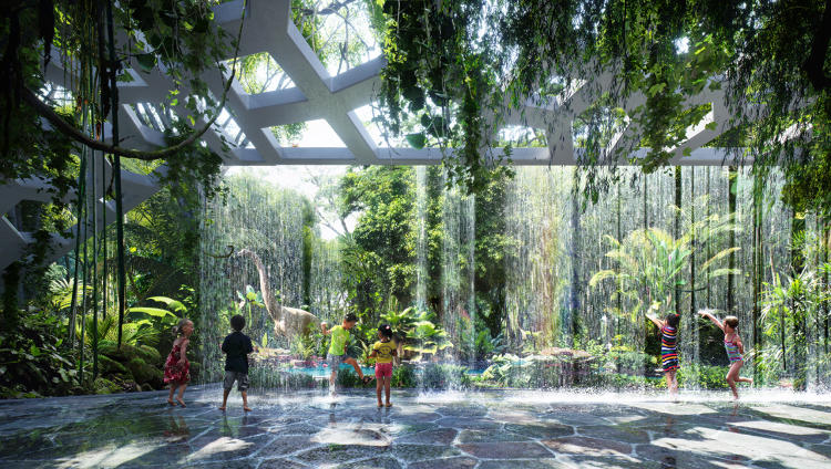 <p>The outdoor rainforest will be 75,000 square feet and located on the hotel's rooftop.</p>