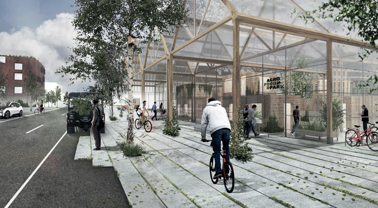 <p>It's a model, the designers say, for future development that's a hybrid of urban design and agriculture.</p>