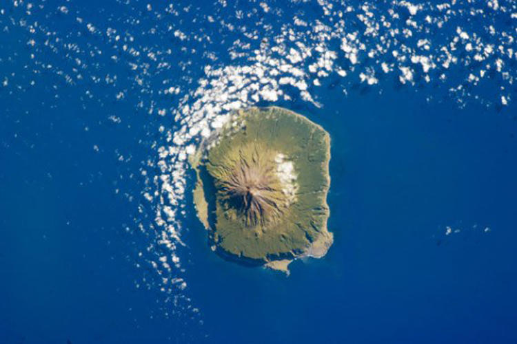 <p>The island sits in the Atlantic Ocean, thousands of miles from the nearest land.</p>