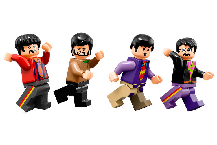 <p>The Fab Four, now available in mini-fig form in Lego's new Beatles-themed yellow submarine set.</p>