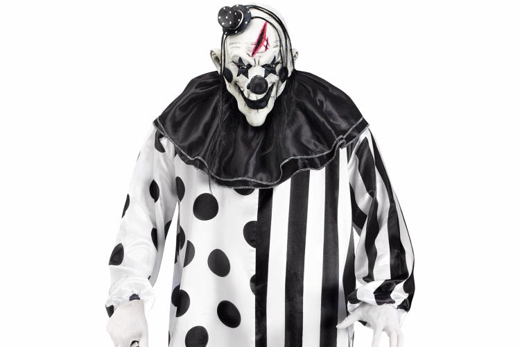 <p><a href=&quot;http://www.spirithalloween.com/product/adult-killer-clown-costume/58252.uts&quot; target=&quot;_blank&quot;>'Killer clown'</a> is practically its own genre of costume, but this year, it's topical because of <a href=&quot;http://www.nbcnews.com/news/us-news/america-under-siege-creepy-clown-reports-hoaxes-keep-coming-n664021&quot; target=&quot;_blank&quot;>actual clown menace. </a>Not only will you scare people while walking around outside, you might <a href=&quot;http://www.independent.co.uk/news/uk/home-news/student-arrested-killer-clown-brunel-university-filming-youtube-video-met-police-a7356766.html&quot; target=&quot;_blank&quot;>get arrested </a>.</p>