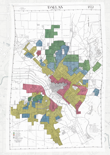 <p>In many neighborhoods where African Americans lived, they refused to make loans, a practice called redlining--the legacy of which is still felt today.</p>