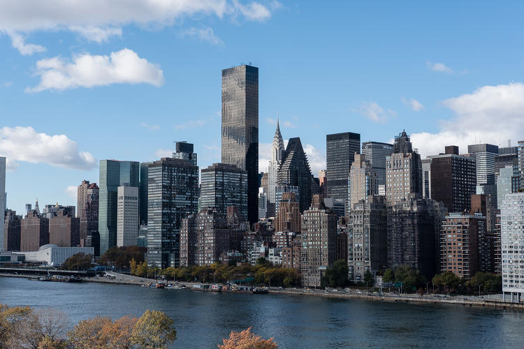<p>The campus sits between midtown Manhattan and Queens.</p>