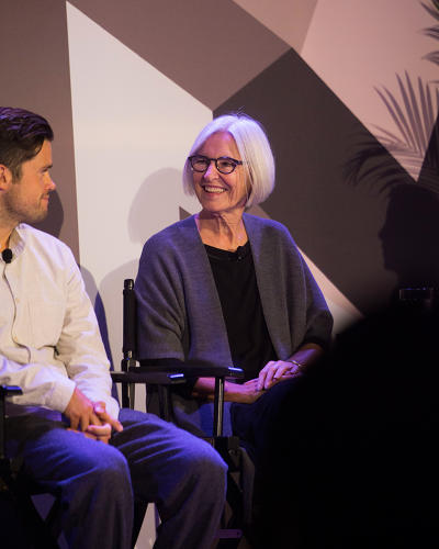 <p><strong>Rich Pierson</strong>, cofounder of Headspace, and <strong>Eileen Fisher</strong></p>