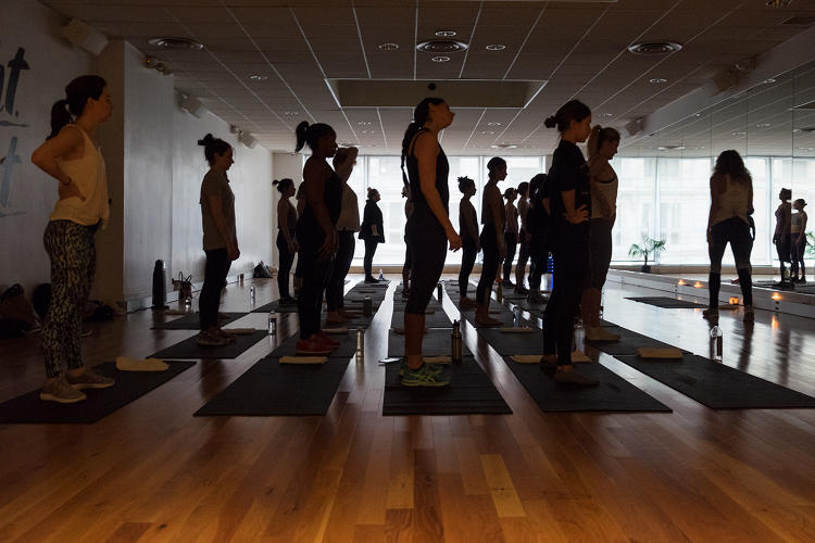 <p>At Fast Company's Innovation Festival, The Class attendees prepare to build spiritual as well as physical fitness.</p>