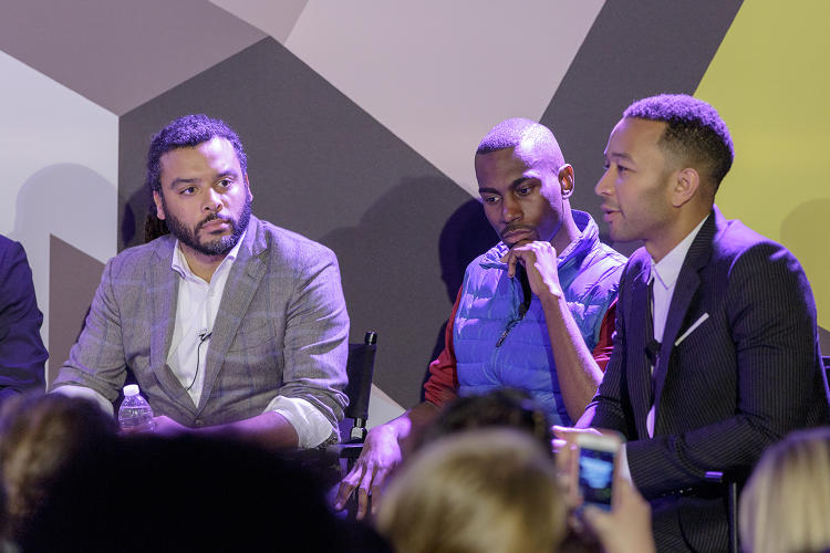 <p>Adam Foss, DeRay Mckesson, and John Legend.</p>